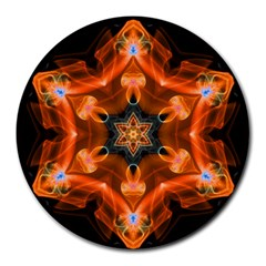 Smoke Art 1 8  Mouse Pad (Round)
