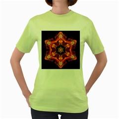 Smoke Art 1 Womens  T Shirt (green)