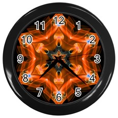 Smoke Art 1 Wall Clock (black)