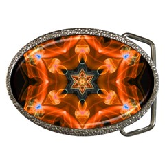 Smoke Art 1 Belt Buckle (oval)