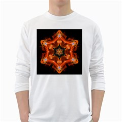 Smoke Art 1 Mens' Long Sleeve T-shirt (White)