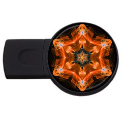 Smoke Art 1 4gb Usb Flash Drive (round)