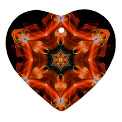 Smoke Art 1 Heart Ornament (two Sides)