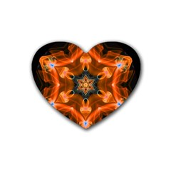 Smoke Art 1 Drink Coasters 4 Pack (heart)