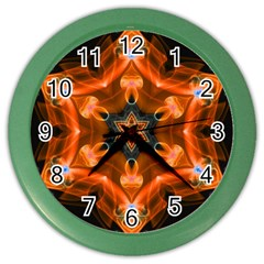 Smoke Art 1 Wall Clock (Color)