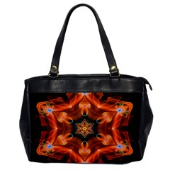 Smoke Art 1 Oversize Office Handbag (one Side)