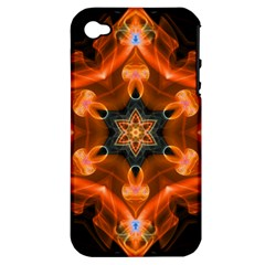 Smoke Art 1 Apple iPhone 4/4S Hardshell Case (PC+Silicone)