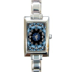 Smoke art 2 Rectangular Italian Charm Watch