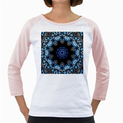 Smoke art 2 Womens  Long Sleeve Raglan T-shirt (White)