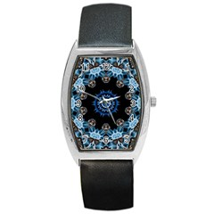 Smoke art 2 Tonneau Leather Watch