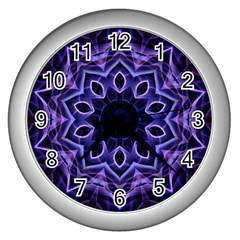Smoke art (2) Wall Clock (Silver)
