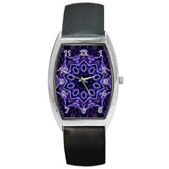 Smoke Art (2) Tonneau Leather Watch