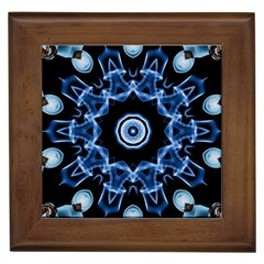 Abstract smoke  (3) Framed Ceramic Tile