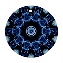 Abstract smoke  (3) Round Ornament