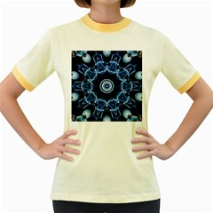 Abstract Smoke  (3) Womens  Ringer T Shirt (colored)