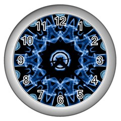 Abstract smoke  (3) Wall Clock (Silver)