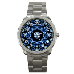 Abstract smoke  (3) Sport Metal Watch
