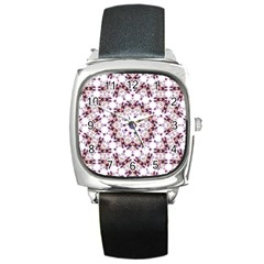 Abstract Smoke  (4) Square Leather Watch