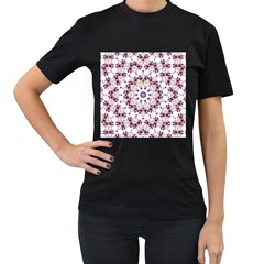 Abstract Smoke  (4) Womens' Two Sided T-shirt (Black)