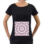 Abstract Smoke  (4) Womens' Maternity T-shirt (Black) Front