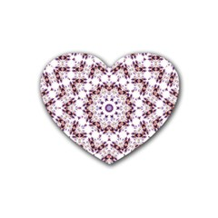 Abstract Smoke  (4) Drink Coasters 4 Pack (Heart)