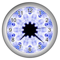 Smoke Art (5) Wall Clock (Silver)