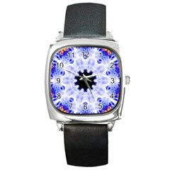 Smoke Art (5) Square Leather Watch