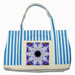 Smoke Art (5) Blue Striped Tote Bag
