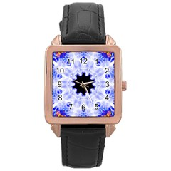 Smoke Art (5) Rose Gold Leather Watch
