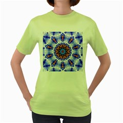 Smoke Art  (6) Womens  T Shirt (green)