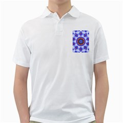 Smoke Art  (6) Mens  Polo Shirt (White)