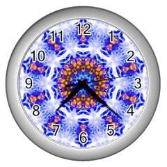 Smoke Art  (6) Wall Clock (Silver)