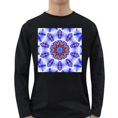 Smoke Art  (6) Mens' Long Sleeve T-shirt (Dark Colored)