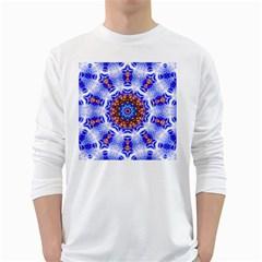 Smoke Art  (6) Mens' Long Sleeve T Shirt (white)