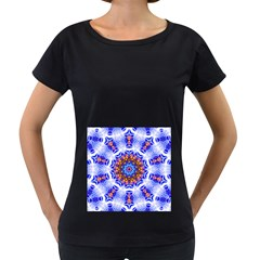 Smoke Art  (6) Womens' Maternity T-shirt (Black)