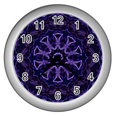 Smoke Art (7) Wall Clock (Silver)