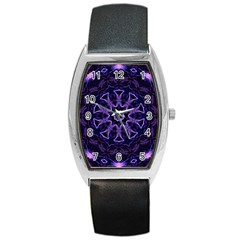 Smoke Art (7) Tonneau Leather Watch