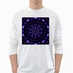 Smoke Art (7) Mens' Long Sleeve T Shirt (white)