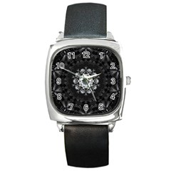 (8) Square Leather Watch