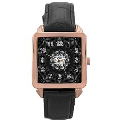 (8) Rose Gold Leather Watch