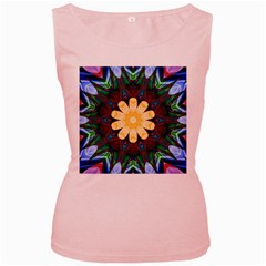 Smoke Art  (9) Womens  Tank Top (pink)