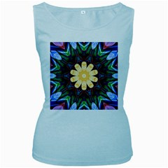 Smoke Art  (9) Womens  Tank Top (baby Blue)