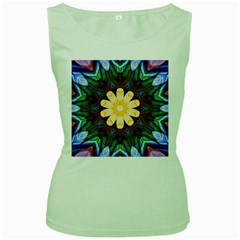 Smoke art  (9) Womens  Tank Top (Green)