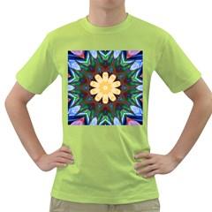 Smoke art  (9) Mens  T-shirt (Green)