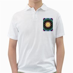 Smoke art  (9) Mens  Polo Shirt (White)