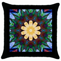 Smoke art  (9) Black Throw Pillow Case