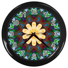 Smoke Art  (9) Wall Clock (black)