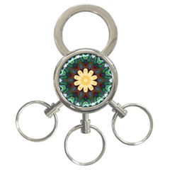 Smoke art  (9) 3-Ring Key Chain