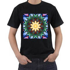 Smoke art  (9) Mens' Two Sided T-shirt (Black)