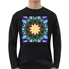 Smoke art  (9) Mens' Long Sleeve T-shirt (Dark Colored)